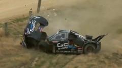 モンスター田嶋のスーパー86がレース・トゥ・ザ・スカイ 2015でクラッシュしちゃう動画