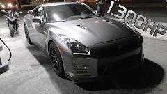 1300馬力 日産 GT-R vs BMW S1000RR 公道加速対決動画