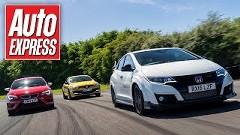 新型ホンダ シビック タイプ R vs セアト レオン クプラ280 vs ルノー メガーヌ RS トロフィー ホットハッチタイムアタック動画