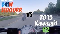 カワサキ Ninja H2 vs BMW S1000RR 公道加速対決動画