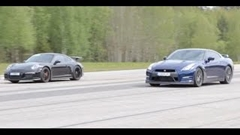 日産 GT-R vs ポルシェ 991 GT3 加速対決動画