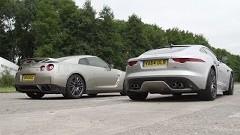 日産 GT-R vs ジャガー F-TYPE R AWD 加速対決動画