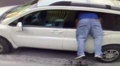 車両荒らしの犯行の瞬間を撮影した動画