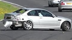 ニュルを走行していた BMW M3 がクラッシュしちゃう動画