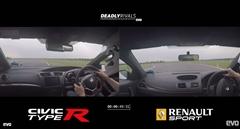 新型ホンダ シビック タイプR vs ルノー メガーヌ R.S. 275 トロフィーR サーキットタイムアタック動画