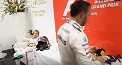 F1メルセデスAMGのロズベルグがハミルトンに激おこ