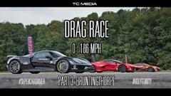 フェラーリ ラ・フェラーリ vs マクラーレン P1 vs ポルシェ 918 スパイダー 0-300km/h加速対決動画