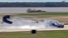 3000馬力のコルベットが300km/hオーバーでスピンしちゃう動画