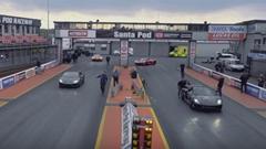 ポルシェ 918 スパイダー vs ランボルギーニ ウラカン ゼロヨン加速対決動画