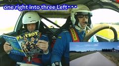 ラリー競技のコ・ドライバーの仕事がわかるかもしれない動画