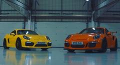 MR vs RR ポルシェ ケイマン GT4 vs 991 GT3 RS サーキットタイムアタック対決動画