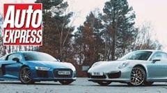アウディ R8 V10 Plus vs ポルシェ 991 ターボS 加速対決動画