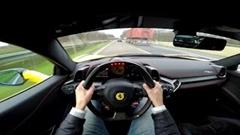 フェラーリ 458 イタリアがアウトバーンを最高290km/hドライブしてみた動画
