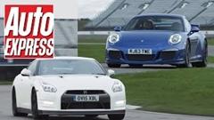 ポルシェ 991 GT3 vs 日産 GT-R サーキットタイムバトル対決動画