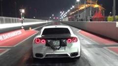 はえー!日産GT-R ゼロヨン7秒44 世界新記録動画