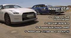日産 GT-R vs アウディ RS6、ジャガー F-Type R 加速対決動画