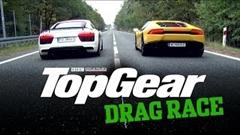 アウディ R8 V10 Plus vs ランボルギーニ ウラカン 加速対決動画