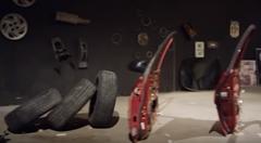 最後まで必見の車のパーツで作ったピタゴラ装置動画