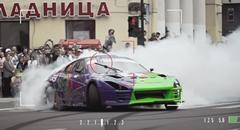 ロシアの街をスープラで大暴れしちゃう超絶ドリフト動画