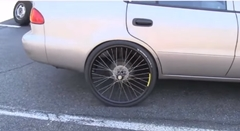 チャリのタイヤを自動車に履かせてみた