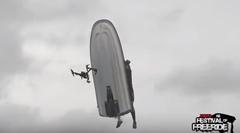 ドローンでジェットスキーのトリックを空撮するよ→撃沈