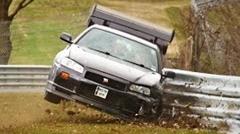 日産 R34 スカイライン GT-R がニュルでクラッシュしちゃう動画