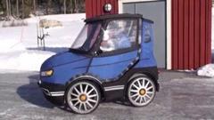 ちょっと欲しいかも 極小自動車のような電動四輪チャリンコ