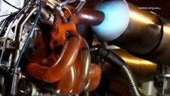 快音がたまらんルノー F1マシンのV8エンジンテスト