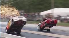 ウイリー vs ウイリー ウイリー四輪車ドラッグレース対決