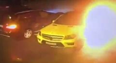 ベンツに仕掛けた爆弾が爆発しちゃう爆弾テロ動画