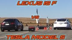 テスラ モデルS 70D vs レクサス IS F 加速対決動画