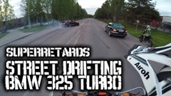 ドリフトBMWとバイク軍団が公道を爆走しちゃう動画