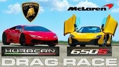 ランボルギーニ ウラカン vs マクラーレン 650S 加速対決動画