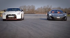 日産 GT-R NISMO vs マクラーレン 675LT 0-1000m加速対決動画