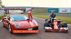 フェラーリ F1 vs 488GTB サーキット対決動画