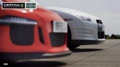 日産 GT-R vs ポルシェ 991 GT3 RS 0-800m 加速対決動画
