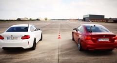 BMW M4 vs M2 ゼロヨン加速対決動画
