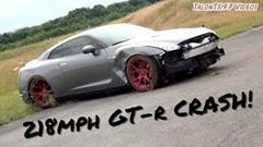 2000馬力のGT-Rが350km/hでクラッシュしちゃう動画