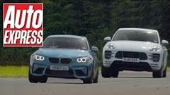 BMW M2 vs ポルシェ マカン ターボ サーキットタイムアタック対決動画