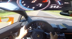 はえー!ランボルギーニ ウラカンがアウトバーンで342km/h出しちゃう動画