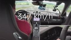 ポルシェ 991 ターボS 最高速度テストしたら347km/h出たっていう動画