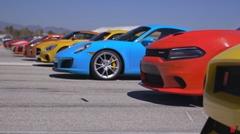 新型NSX vs GT-R vs 570S vs R8 vs M4 GTSvs AMG GT S vs シェルビーGT350R vs カマロSS vs V12ヴァンテージS vs ヴァイパーACR vs カレラS vs F-Type SVR 12台同時ドラッグレース動画