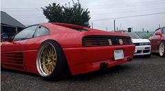 フェラーリ 348 を超車高短鬼キャンにしちゃった動画
