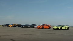 570S vs 675LT vs ウラカン vs アヴェンタドールSV vs GT3RS vs 918 vs ヴァンテージ GT12 vs AMG GTS vs F12 勝ち抜きドラッグレース対決