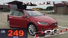 テスラ モデルX P90D の加速力と最高速度を計測してみた動画