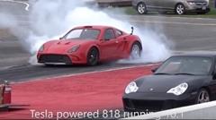 はえー!テスラのドライブユニットを積んだ激速キットスポーツカー 818