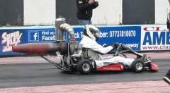 ジェットエンジンを積んだ手作りカートのゼロヨンタイムを計測するよ