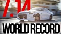 はえー!日産GT-R ゼロヨン7秒14 世界新記録動画
