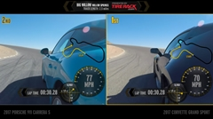 ポルシェ 991 カレラS vs シボレー コルベット グランスポーツ サーキット比較動画