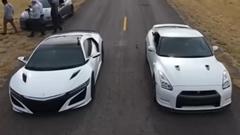 新型ホンダ NSX vs 日産 GT-R 加速対決動画